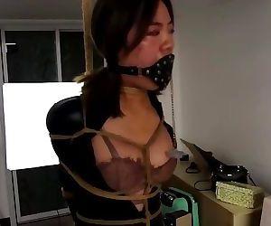 asian bondage plug gagged..