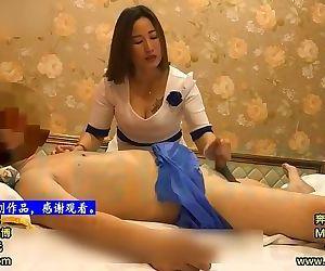 Chinese Homemade Footjob..