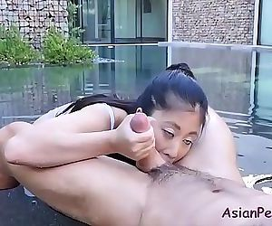 Oiling up this ASIAN slut 8..
