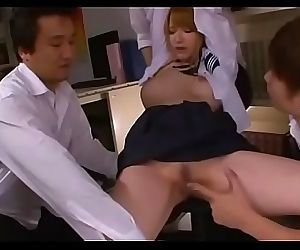 Immoral schoolgirl in a..