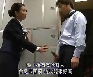 Beautiful Asian stewardess..